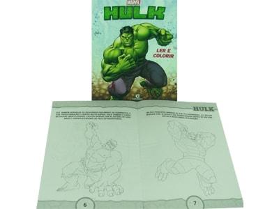 Livro Médio Ler e Colorir Hulk