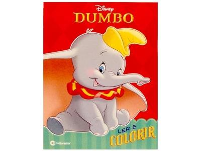 Livro Médio Ler e Colorir Dumbo