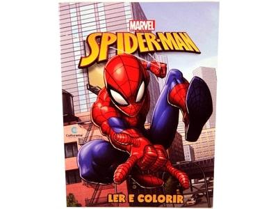 Livro Médio Ler e Colorir Homem Aranha