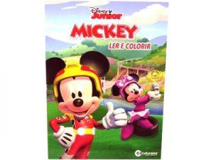 Livro Médio Ler e Colorir Mickey
