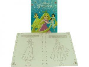 Livro Médio Ler e Colorir Princesas