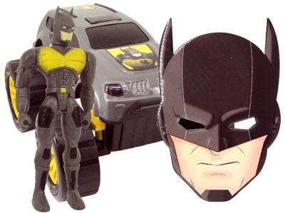 Boneco Super Vigilante Negro com Carro e Máscara