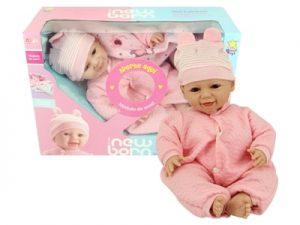 Boneca New Born Soninho Olho Móvel Menina