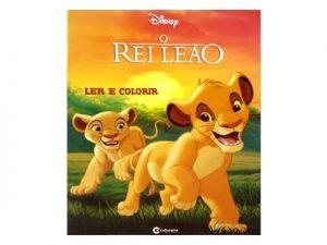 Livro Médio Ler e Colorir  O Rei Leão