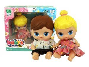 Boneca Baby's Collection Mini Gêmeos
