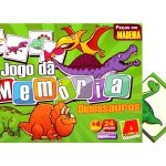 Jogo Memória Madeira Dinossauros