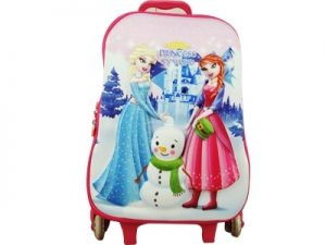 49389 – Mochila c/ Rodas, Lancheira e Estojo Princess Icy World
