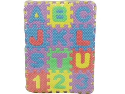 17696 : Tapete Eva de Encaixar Com Letras E Números 14.5 x 11 x 2 cm 5por10.