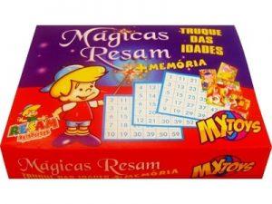 65513 – Jogo da Memória Mágicas 12×15,5x3cm 10por10