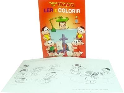 Livro Ler e Colorir Turma da Mônica
