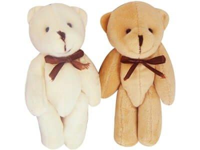 Chaveiro Urso Articulado Laço Liso