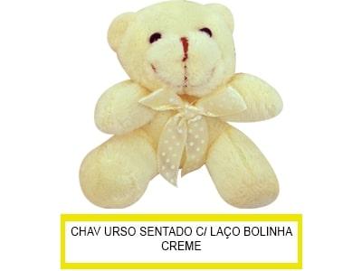 Chaveiro Urso Laço Bolinha Sentado