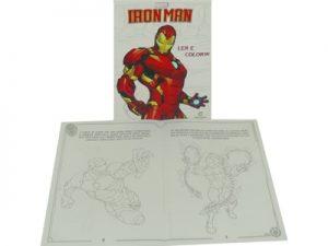 Livro Médio Ler e Colorir Iron Man