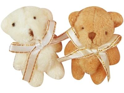 Chaveiro Urso Laço Dourado