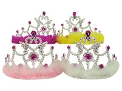 Coroa Princesas c/ Plumas