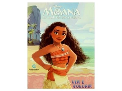 Livro Médio Ler e Colorir Moana