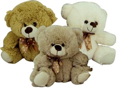 90003- Urso Laço Bolinha 20cm