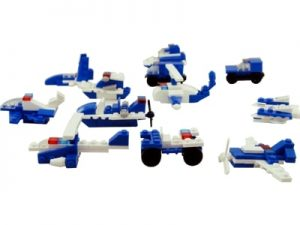 79837 Bloco P/ Montar C/18 Pcs Super Police