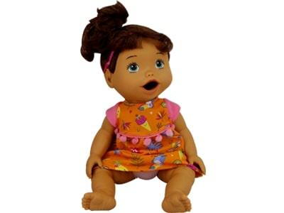 38105 Boneca My Little Collection Primeira Papinha Morena