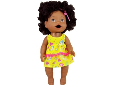 38107 Boneca My Little Collection Primeira Papinha Negra